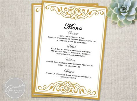 menu card template 6 event menu templates psd vector eps ai illustrator