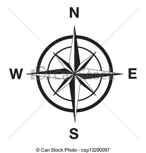 line drawing compass clipart best eps vectors of compass silhouette in black compass