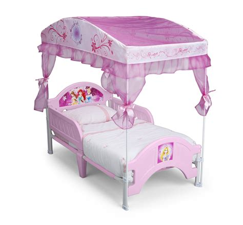 Disney Princess Toddler Bed With Canopy Delta Children Canopy Toddler Bed Disney Princess Princess Canopy New Ebay
