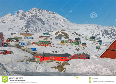 houses in greenland colorful houses in greenland stock photo image 61164290
