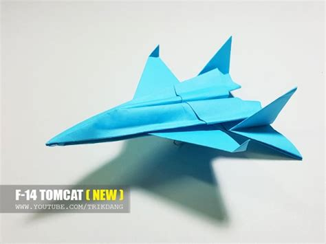 Origami F 14 - cool paper jet fighter how to make a paper airplane