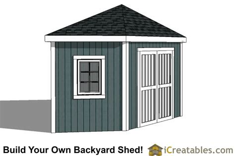 3 Sided Shed Plans Free by 12x12 5 Sided Corner Shed Plans