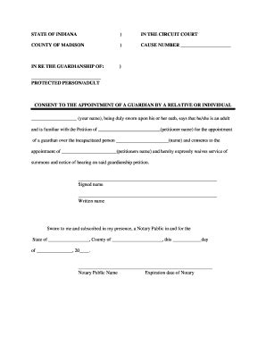 Guardian Number 911 Consent Forms Fill Printable Fillable