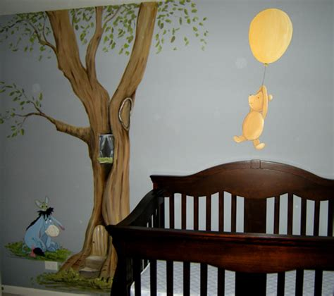 classic winnie the pooh wall stickers for nursery nursery mural ideas on winnie the pooh