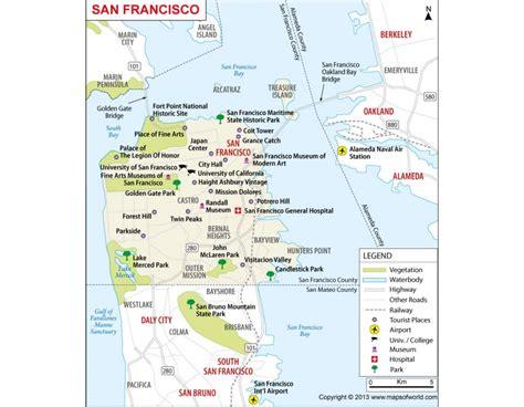 san francisco map buy buy san francisco city map