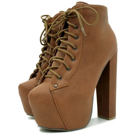 wooden block heel concealed pointed platform ankle boots