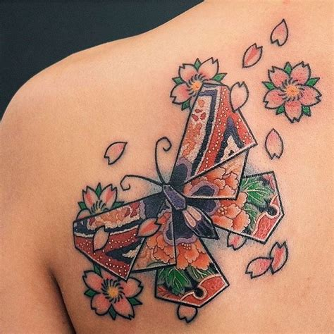 butterfly tattoo japanese origami butterfly tattoo origami tattoo pinterest