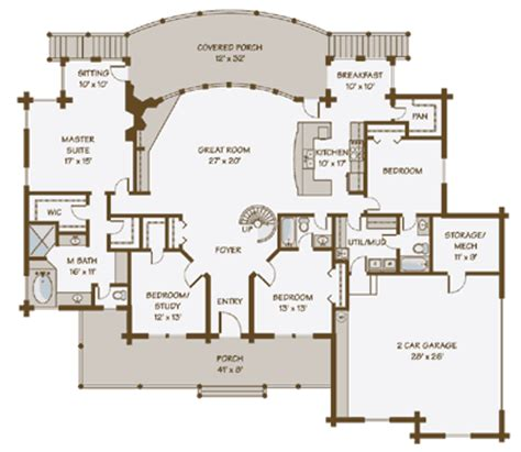 Lakeview House Plans by Lakeview Log Home Floor Plan By Contemporary Log Homes