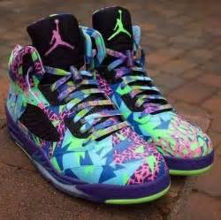 color jordans shoes colorful pattern retro jordans jordans cool