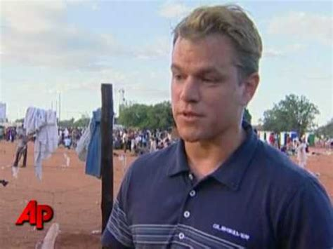 matt damon south africa matt damon tours south refugee c