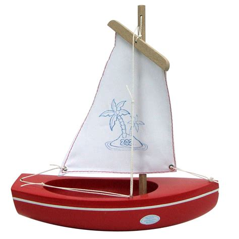 small boat toy small toy boat 202 palm tree red 22cm little french