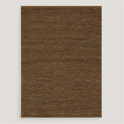 brown jute rug brown deca flat woven jute rug world market