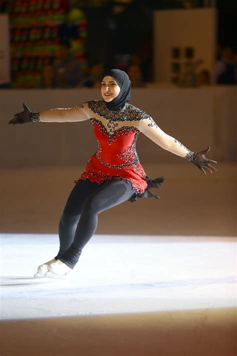 figure uae meet zahra lari the uae s figure skating