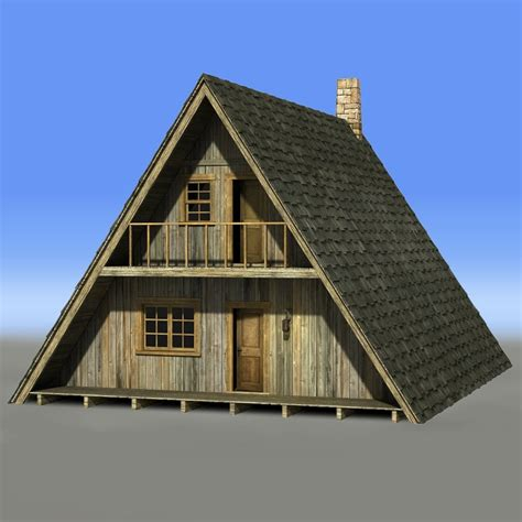 a frame building a frame house 3d obj