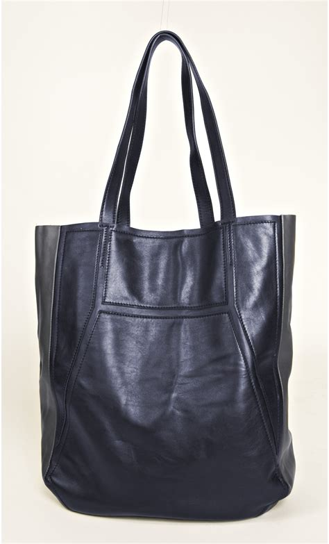Totebag Blacu Fullcolor two color leather tote bag mondefile