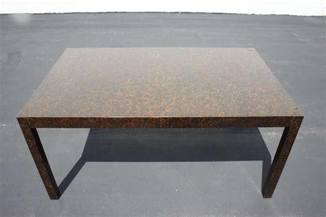 Tortoise Shell Table L by 1960 S Tortoise Shell Lacquer Parsons Dining Table With 2