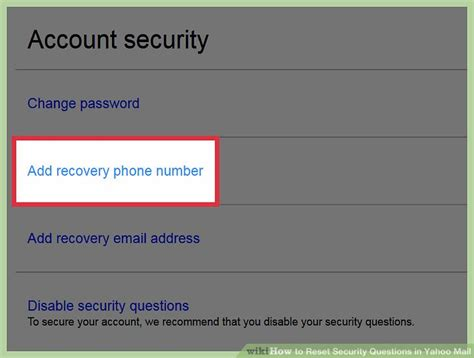 yahoo email security questions how to reset security questions in yahoo mail with pictures