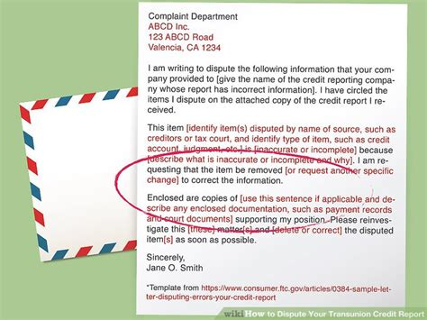 Credit Union Dispute Letter how to dispute your transunion credit report 11 steps