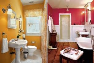 Colorful bathroom ideas in yellow and pink bathroom color jpg