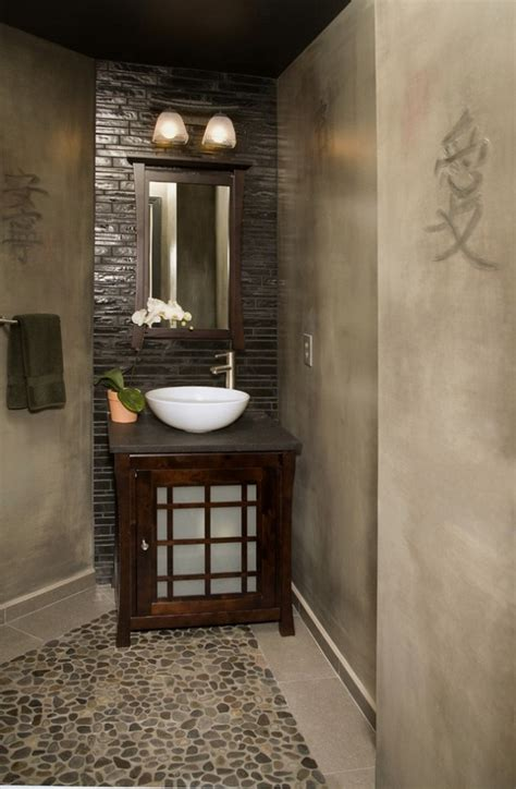 harmony bath design in asian style room decorating