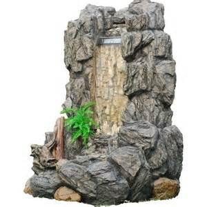 outdoor waterfall fountain large lighted outdoor water