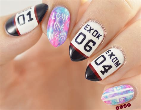 tutorial nail art exo n y a nails love me right