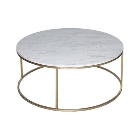 Marble Coffee Table Uk Buy White Marble And Gold Metal Coffee Table From Fusion Living