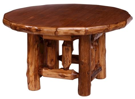 timberline c log dining table minnesota rustic