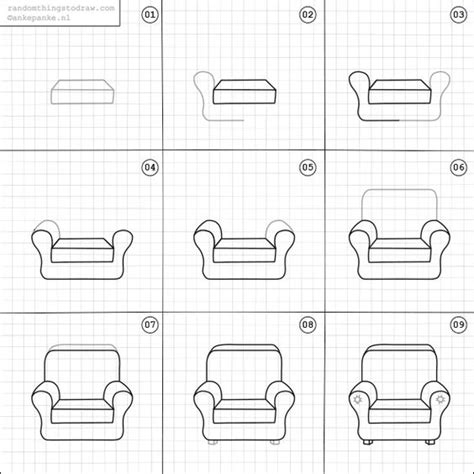 How To Draw A 3d Chair Step By Step by How To Draw A Chair Random Things To Draw