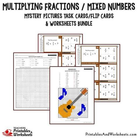 multiplying fractions using cards template multiplying fractions task cards and worksheets bundle