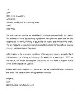 Sponsorship Letter Company Employee Sponsorship Letter 7 Free For Word