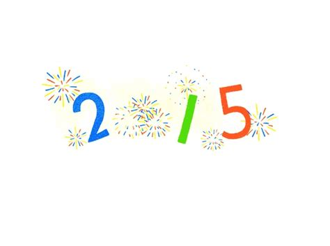 google images new year new year 2015 google says happy new year with fireworks