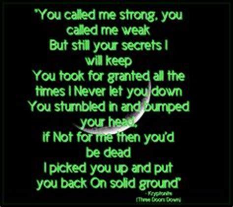 3 Doors Kryptonite Lyrics by Kryptonite 3 Doors For Soul
