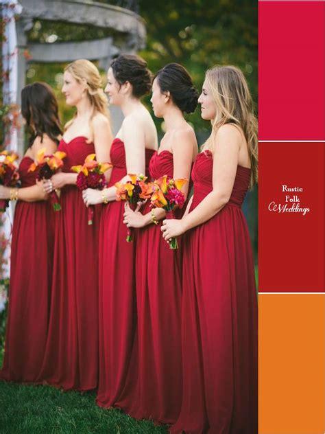 pretty wedding colors 5 fall inspired wedding color palettes rustic folk weddings