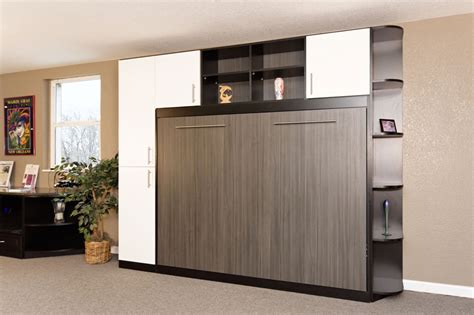 white murphy bed bookcase murphy bed with shelves bedroom brown black wooden murphy