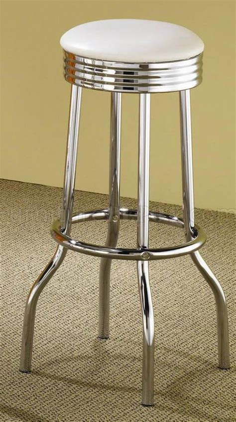 chrome top bar white top chrome base modern 3pc bar set w optional stools