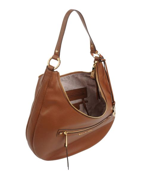 Michael Michael Kors Hudson Soft Large Shoulder Bag by Lyst Michael Michael Kors Shoulder Bag In Brown