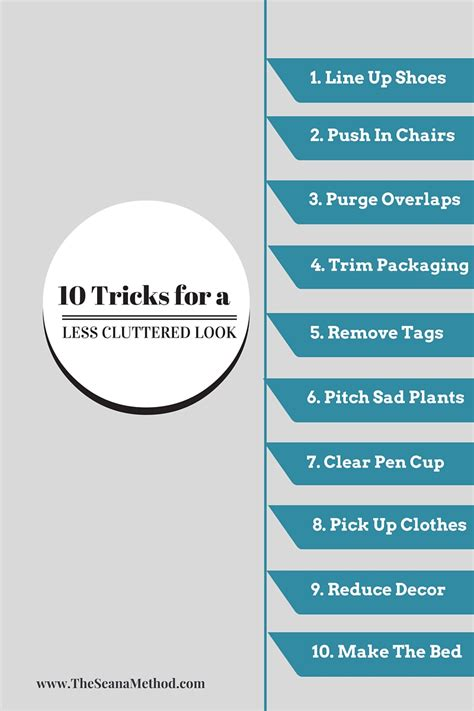 10 Tricks For Less by 10 Tricks For A Less Cluttered Look The Seana Method