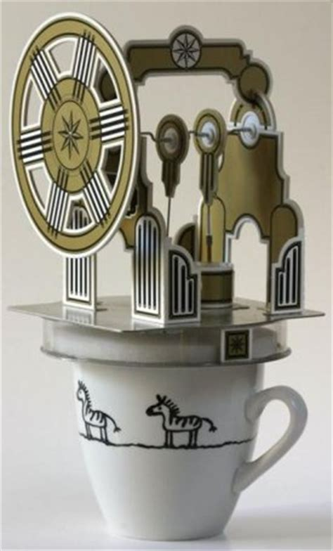 Papercraft Engine - papercraft stirling engine that runs on coffee boing boing