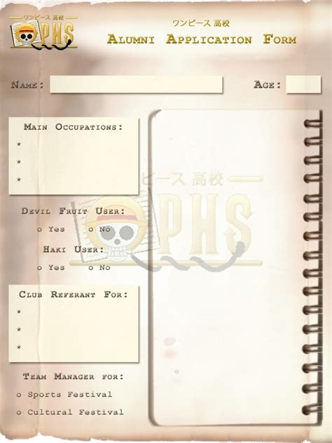 Ophs Chara Profile Template Alumni By Tenshinofuu On Deviantart Alumni Database Template