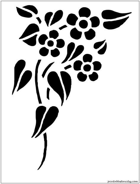 free printable wall stencils of flowers 8 best images of printable stencils flowers printable