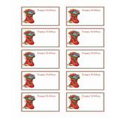 Best Photos Of Free Christmas Name Tag Templates  Printable