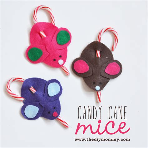 make candy cane mice a kid s christmas craft the diy mommy