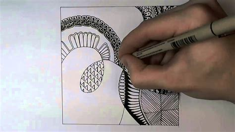 zentangle pattern youtube zentangle 1 youtube