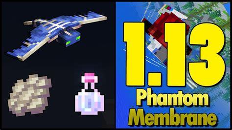 minecraft  snapshot wa phantom membrane uj