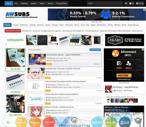 6 Anime Website by 7 Website Anime Subtitle Indonesia Terbaik