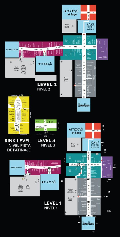 layout of galleria mall galleria mall houston map