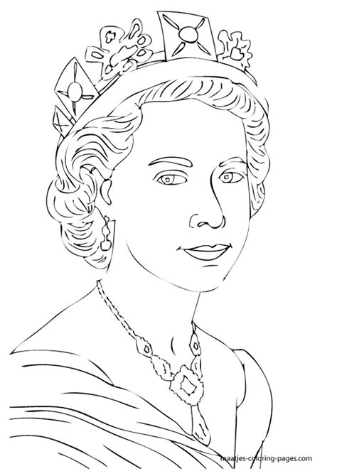 coloring pages of the queen queen elizabeth diamond jubilee coloring pages 071