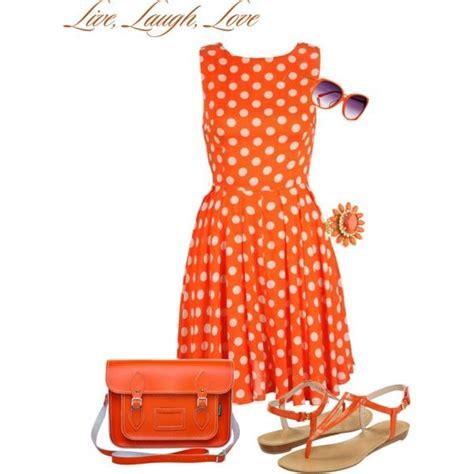 sendok set polkadot orange quot orange polka dot dress quot by stylelover10 on polyvore