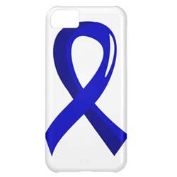 ribbon color for colon cancer colon cancer blue ribbon 3 cover for iphone 5c zazzle